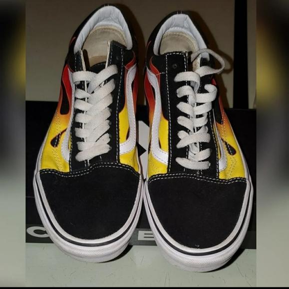 Vans Shoes | Fire Sneakers | Poshmark